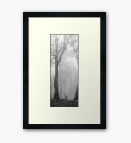 Through the fog - B&W Framed Print