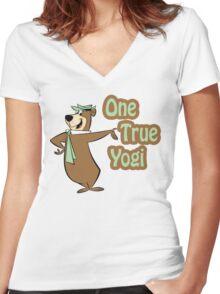 One True Yogi Women's Fitted V-Neck T-Shirt