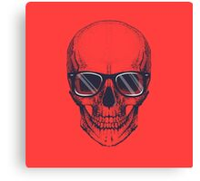 Hipster skull with glasses  Canvas Print