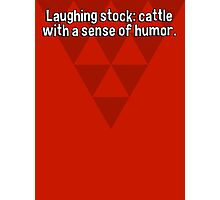 Laughing stock: cattle with a sense of humor. Photographic Print