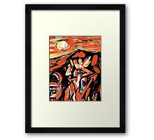 chief crow.....portrait close up Framed Print