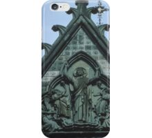 Christ triumphant on top of facia Nidaros Trondheim Norway 19840622 0014 iPhone Case/Skin