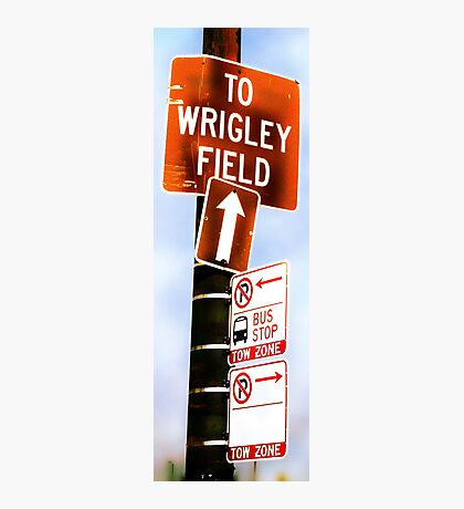 this way to wrigley field Photographic Print