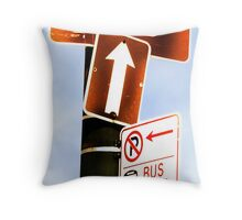 this way to wrigley field Throw Pillow