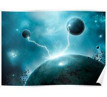 Galactic Lightning Poster