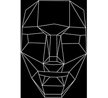 White wire-frame mask Photographic Print