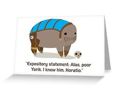 Elcor Hamlet  Greeting Card