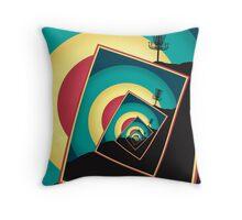 Spinning Disc Golf Baskets 2 Throw Pillow