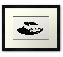 MK5 shadow Framed Print