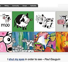Moo Moo - 23 September 2010 by The RedBubble Homepage