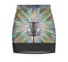 Disc Golf Basket Silhouette Mini Skirt