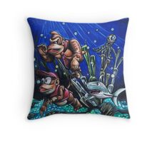 Aquatic Ambience Throw Pillow