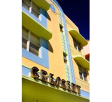 crescent building, south beach, florida Photographic Print