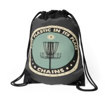 Putt Plastic In Its Place Drawstring Bag