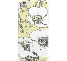 Floral Abstract-Yellow and White iPhone Case/Skin