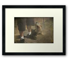 Tired But Happy Framed Print