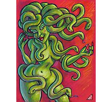 Medusa on Red  Photographic Print