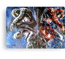 Black and Red Canvas Print