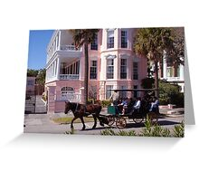 Horse Carriage at the Battery in Charleston Greeting Card