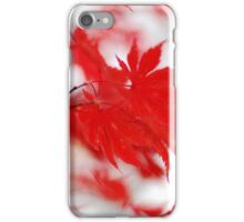 Red leaves in autumn iPhone Case/Skin