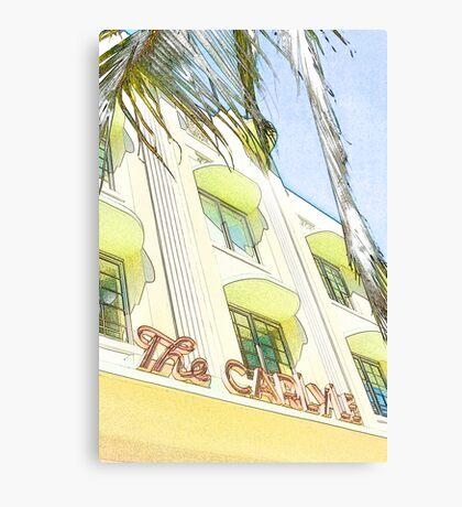 the carlyle hotel, south beach, florida Canvas Print