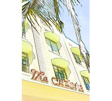 the carlyle hotel, south beach, florida Photographic Print