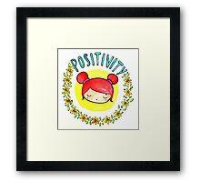 Positivity Kawaii Framed Print