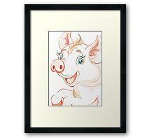 Jolly Miss Piggy Framed Print