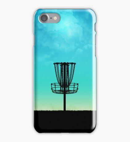 Disc Golf Basket Silhouette iPhone Case/Skin