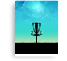 Disc Golf Basket Silhouette Canvas Print
