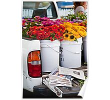 Tailgate Flowers Poster