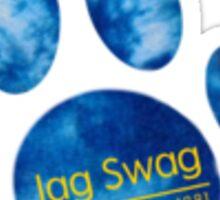 Jag Swag Paw Print Tie Dye Sticker