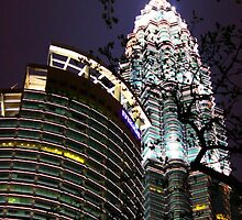 The night of KLCC tower by archerous