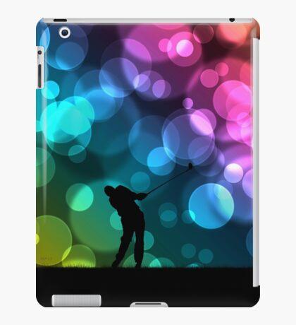 Golfer Driving Bokeh Graphic iPad Case/Skin