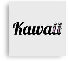 Kawaii Typography Canvas Print