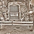 Old chevy truck front- B&amp;W (sepia) by henuly1