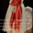 Angel by strawberries