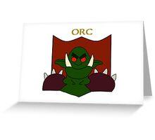 Oogorim the Orc Greeting Card