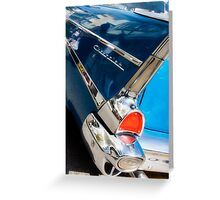 chevy fins Greeting Card
