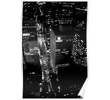 City Lights in B&W Poster