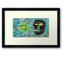Basquiat Style Talking Head Framed Print