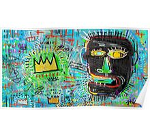 Basquiat Style Talking Head Poster