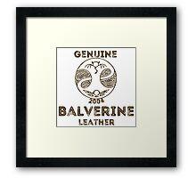 Albion Leather - Balverine Framed Print