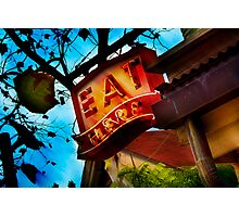 eat here Photographic Print