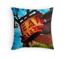 eat here Throw Pillow