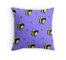 Beelock print Throw Pillow