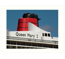 Queen Mary 2 funnel Art Print