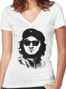 John Beluche Women's Fitted V-Neck T-Shirt