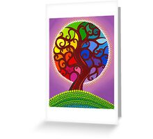 Rainbow Orb Tree of life Greeting Card