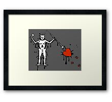 Black Beard Pirate Flag (Splatter) Framed Print